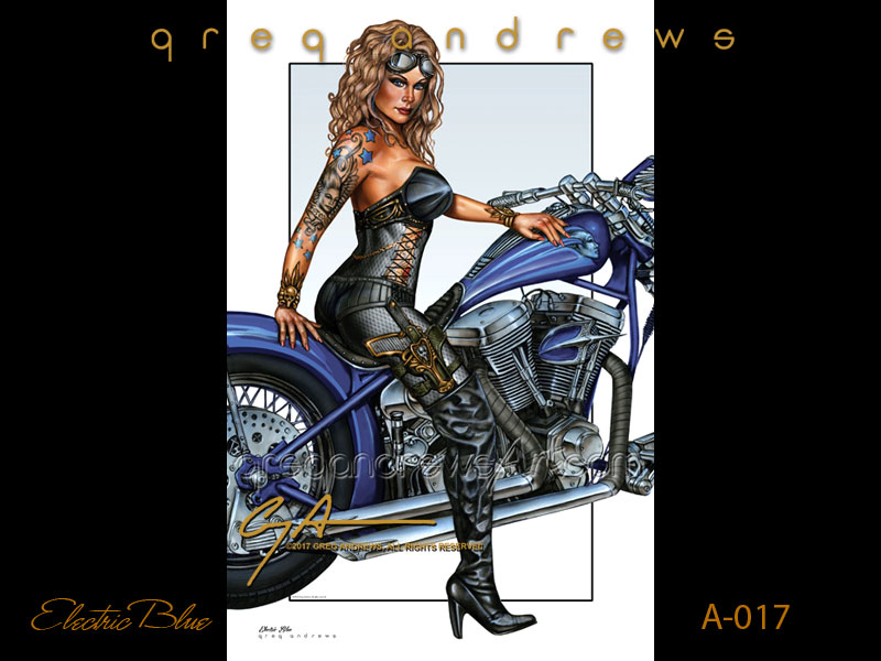Index of images a017 electric blue fantasy pinup bike motorcycle harley davidson artist greg andrews artg freerunsca Images