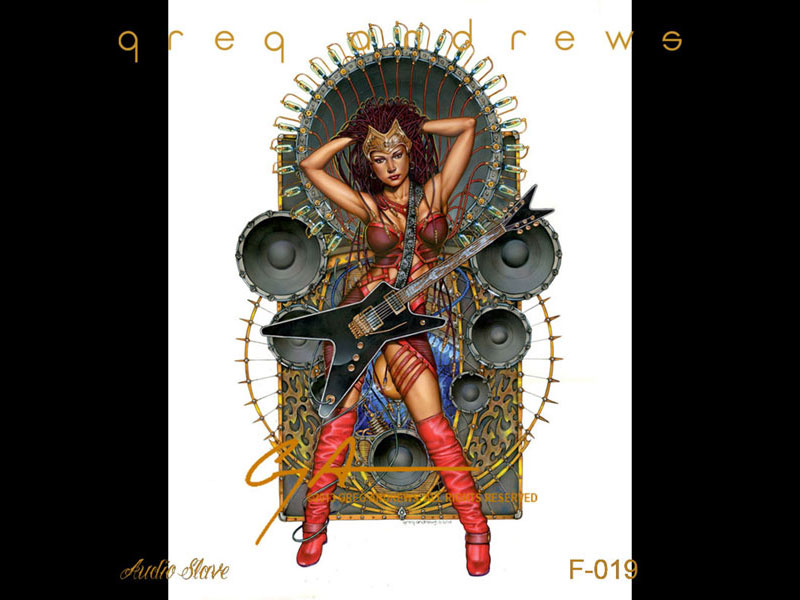 fantasy_pinup_guitar_art_by_artist_greg_andrews_titled_audio_slave