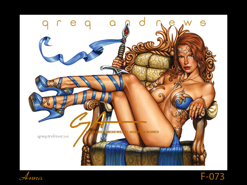 fantasy pinup art by artist greg andrews anna