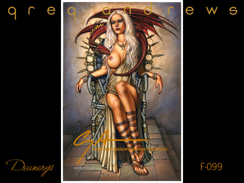 fantasy pinup art by artist greg andrews deanerys