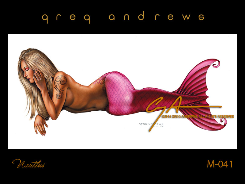 fantasy mermaid pinup art by artist greg andrews nautilus