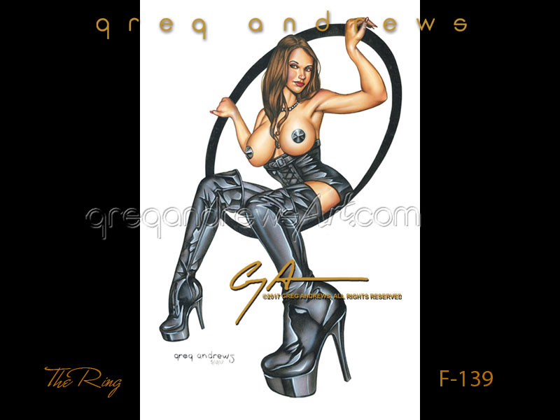 Fantasy tattoo pinup titled THE RING by artist Greg Andrews Art